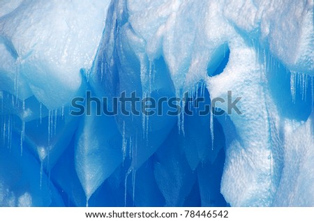 detail of iceberg icicles - stock photo