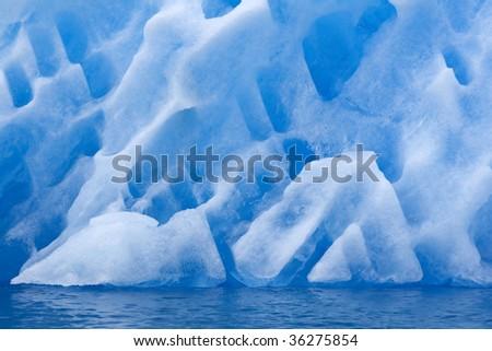 Detail of iceberg in Napassorsuaq Fjord, Greenland - stock photo