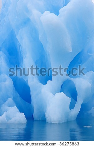 Detail of iceberg in Napassorsuaq Fjord, Greenland - stock photo