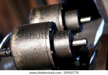 Detail of industrial machinery