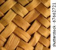Detail of interlaced rattan fibers - stock photo