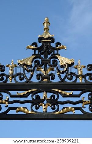 Detail of iron gate - stock photo