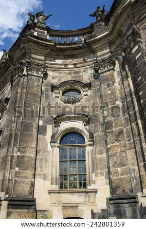 Detail of Katholische Hofkirche church in Dresden, Germany - stock photo