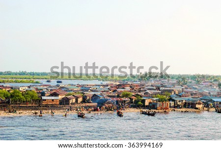 detail of lagos town in nigeria , west africa