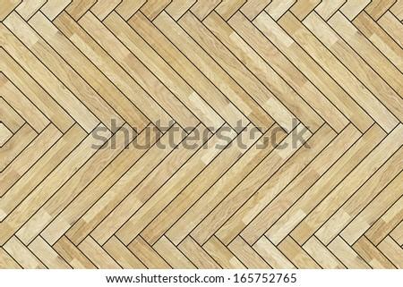 detail of laminated beige wood floor pattern - stock photo