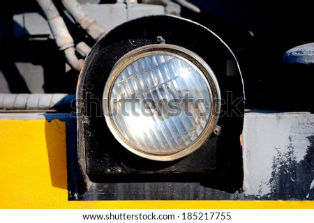 detail of light on a car - stock photo