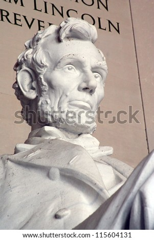 Detail of Lincoln Memorial