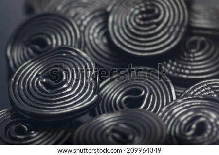 Detail of Liquorice snails