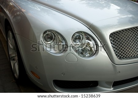 Detail of luxury sports-car - stock photo