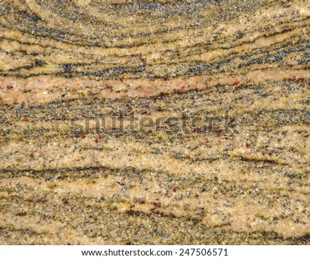 Detail of migmatite (metamorphed rock) texture - stock photo