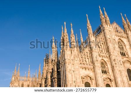 Detail of Milan Cathedral (Duomo di Milano), Italy - stock photo