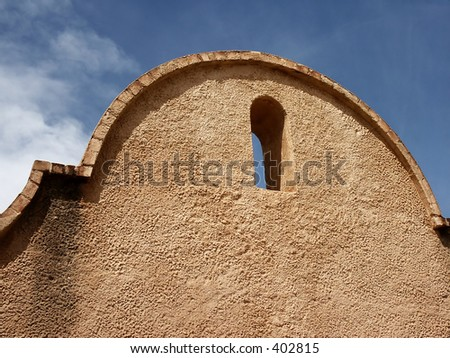 Detail of Mission San Xavier del Bac, Tucson, AZ - stock photo