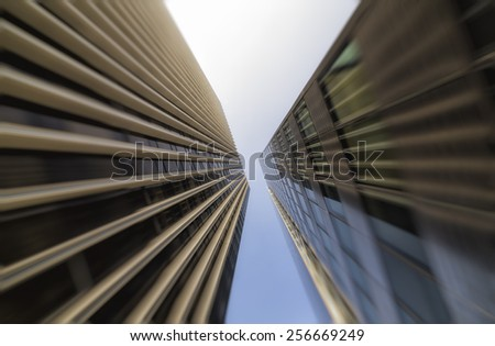 Detail of Modern Architecture. City Life - stock photo