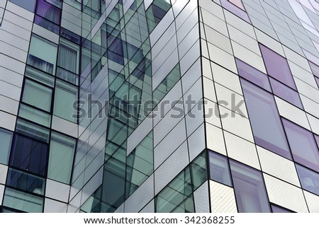 detail of modern building exterior - stock photo