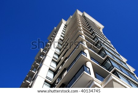 Detail of modern building in Vancouver, Canada - stock photo
