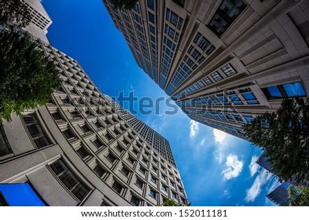 Detail of Modern Buildings In Berlin, Germany - stock photo