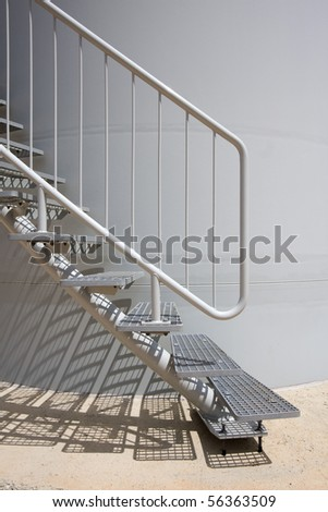Detail of modern Stairs as an Contemporary Architectural Element - stock photo