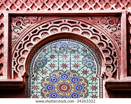 detail of Morocco Style - stock photo