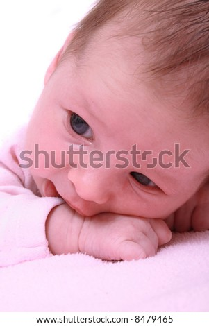 detail of newborn - stock photo