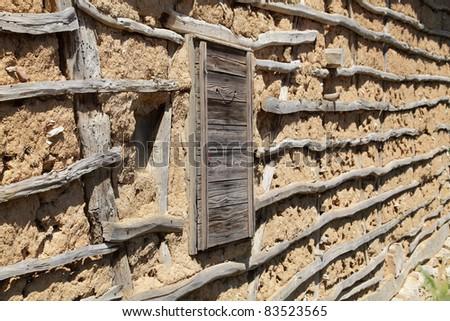 Detail of  old house in South-East Serbia or Bulgaria, Balkan Mountain - Stara Planina - stock photo