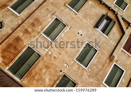 Detail of old house in Venice, Italy - stock photo