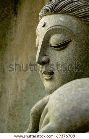 Detail of oriental statue - stock photo