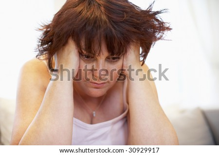 Detail Of Overweight Woman - stock photo