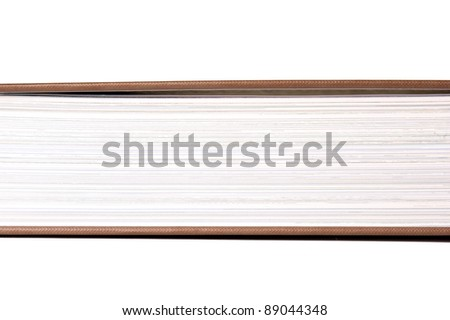 detail of pages in a book - stock photo