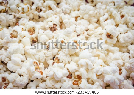 Detail of popcorn in a bowl with a fresh tasty look - stock photo