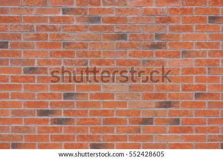 Detail of red brick wall texture background