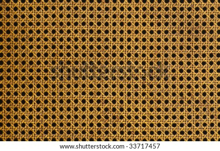 Detail of Rustic Woven Split Cane - stock photo