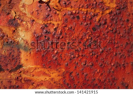 Detail of rusty metal, showing rust textures - stock photo