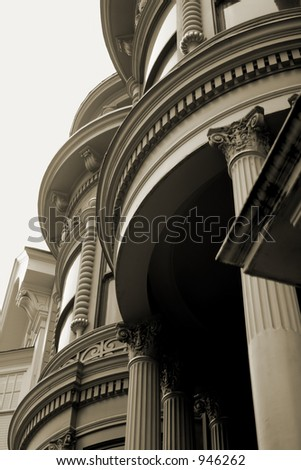 Detail of San Francisco Victorian - stock photo