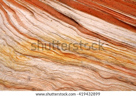 Detail of sandstone formations in White Pocket, Arizona, USA - stock photo