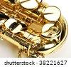 Detail of Saxophone - stock photo