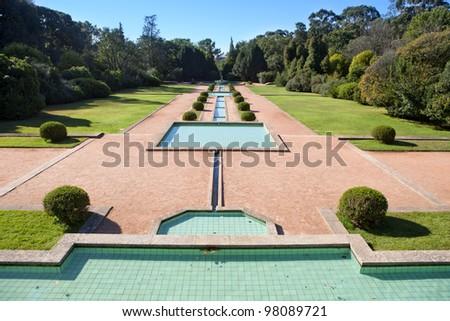 Detail of Serralves garden (oporto/portugal) - stock photo