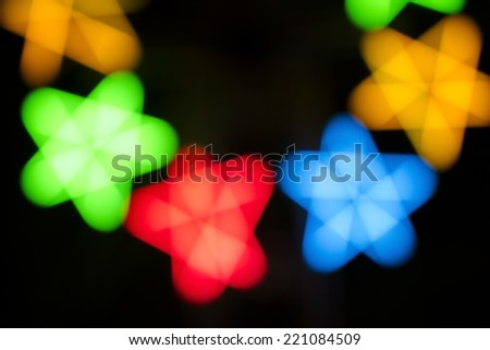 Detail of shining motion blurred stars.  - stock photo