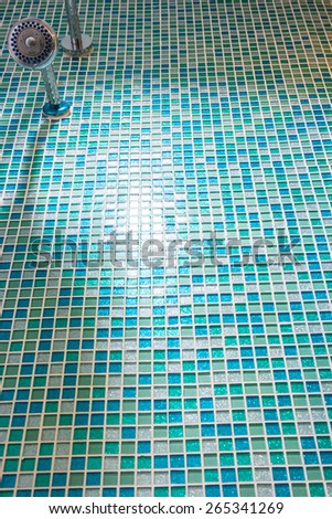 detail of shower room - stock photo