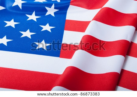 Detail of Silky National Flag of United States of America