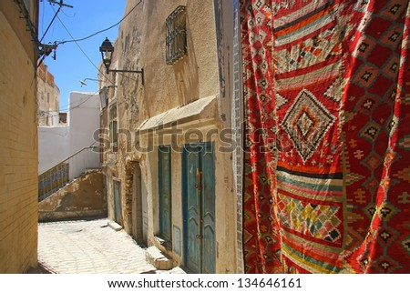 Detail of small street in Sousse, Tunisia