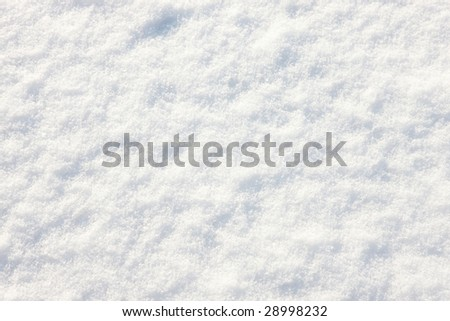 Detail of snow on the ground - stock photo