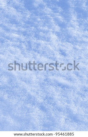 Detail of snow texture with shadows - background - stock photo