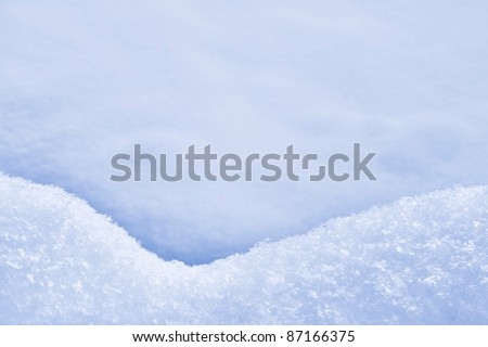 Detail of snowdrift ? snow texture - stock photo
