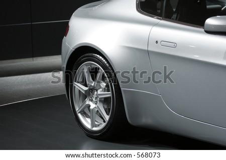 Detail of sports car, Frankfurt motor show - stock photo