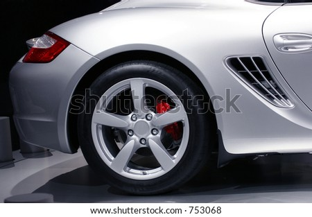 Detail of sports car, Frankfurt motor show - stock photo