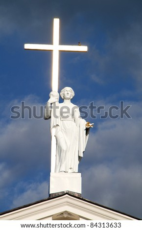 Detail of St. Stanislav Cathedral. Vilnius, Lithuania. - stock photo