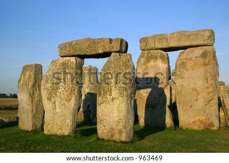 Detail of Stonehenge - England - stock photo