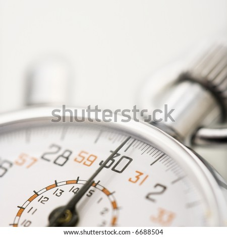 Detail of stopwatch with selective focus. - stock photo