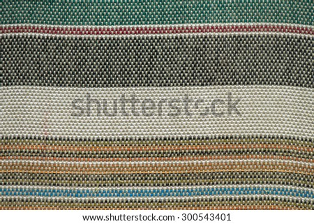 Detail of striped fabric texture - stock photo