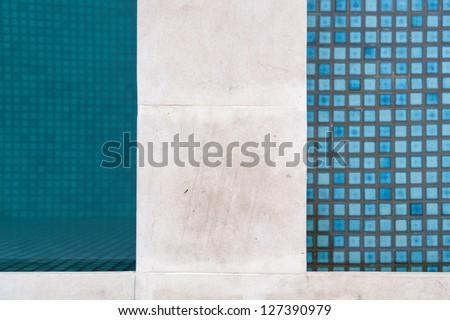 detail of swimming pool edge - stock photo